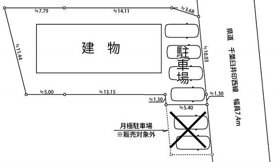 アパート-佐倉市臼井田 敷地図