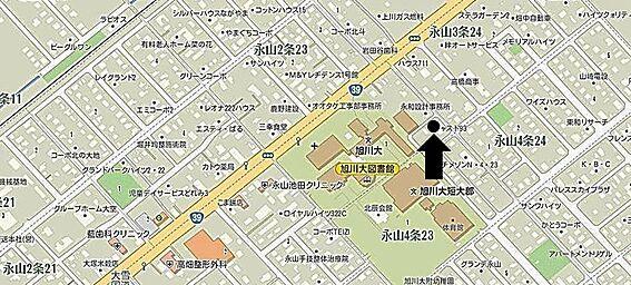 アパート-旭川市永山三条23丁目 地図
