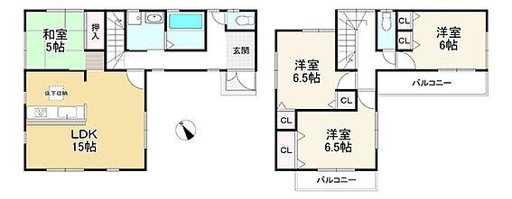 新築一戸建て-神戸市北区緑町3丁目 間取り