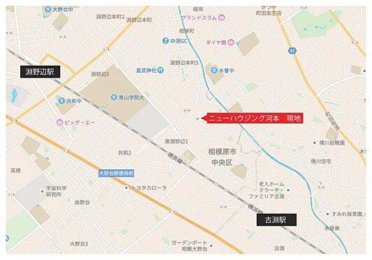 アパート-相模原市中央区東淵野辺2丁目 地図
