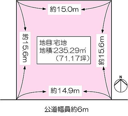 土地-神戸市西区月が丘3丁目 区画図