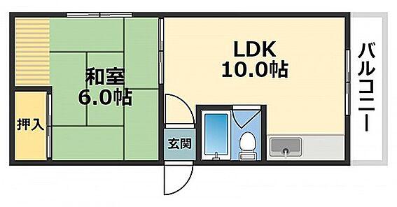 区分マンション-大阪市東成区深江北1丁目 水まわりと居室をわけた単身者向けプラン