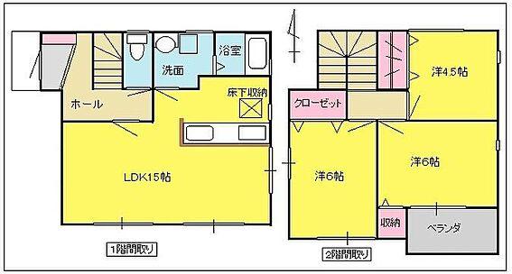 アパート-浜松市南区安松町 3棟とも同じ間取りです。