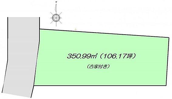 土地-仙台市太白区富田字八幡東 区画図