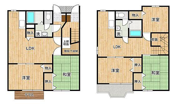 アパート-羽曳野市西浦3丁目 2LDK4戸、3LDK4戸 全8戸