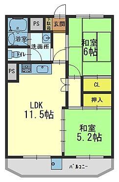 マンション(建物一部)-京都市山科区西野阿芸沢町 水回りと居住スペースをわけた間取り
