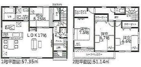 戸建賃貸-常滑市井戸田町1丁目 間取り図 4LDK+WIC