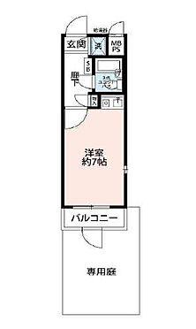 マンション(建物一部)-大田区北糀谷2丁目 間取り図