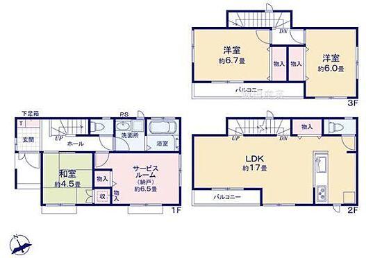 新築一戸建て-名古屋市天白区野並1丁目 3LDKの間取り♪