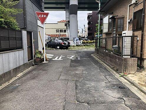 土地-名古屋市北区光音寺町字野方 北側公道幅員4m。