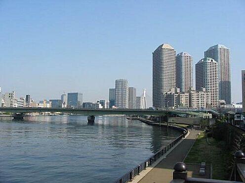 土地-中央区月島1丁目 隅田川テラスまで110m