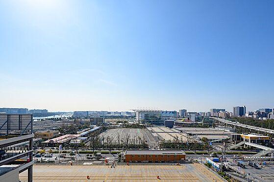 中古マンション-品川区勝島1丁目 南向き前面棟無しの高層階ビュー。大井競馬場・しながわ区民公園を眺める眺望です。
