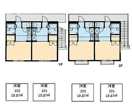 アパート-佐倉市井野 間取り
