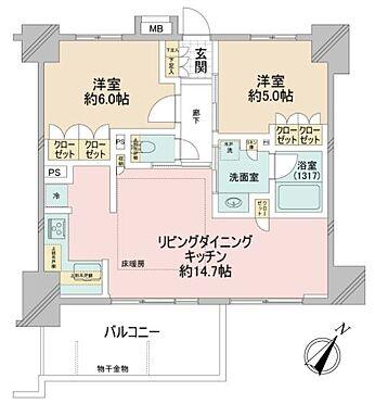 区分マンション-台東区浅草5丁目 間取り