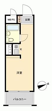 区分マンション-熊本市中央区九品寺1丁目 間取り
