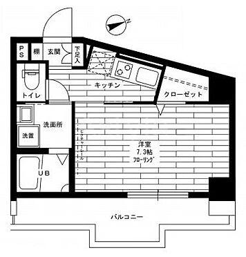 区分マンション-品川区平塚3丁目 間取り