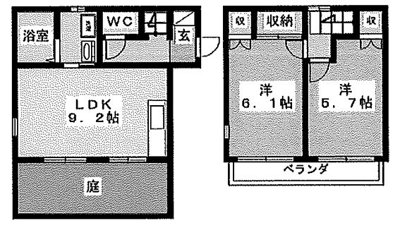 アパート-磐田市向笠竹之内 間取り