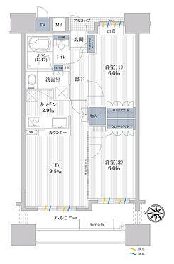 マンション(建物一部)-秋田市山王1丁目 間取り図