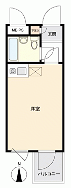 中古マンション-川崎市中原区丸子通1丁目 間取り