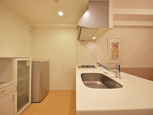 中古マンション-品川区荏原3丁目 キッチンカウンター裏にはたっぷりスペース