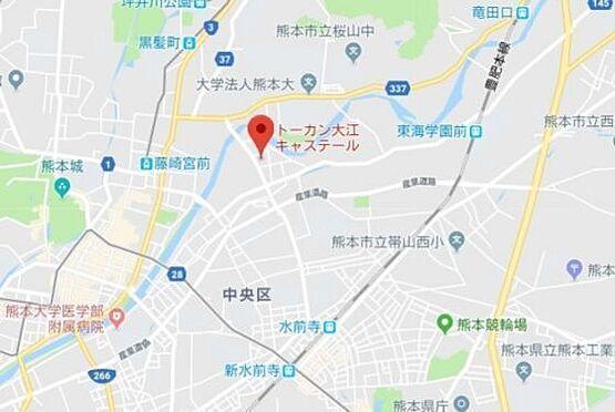 マンション(建物一部)-熊本市中央区大江1丁目 地図