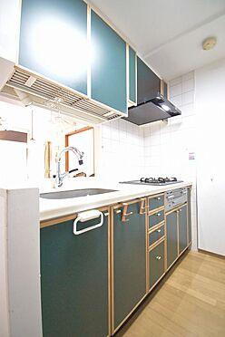 区分マンション-港区三田3丁目 キッチンの水栓金具は給水ができ、レンジフードは整流板付きです。