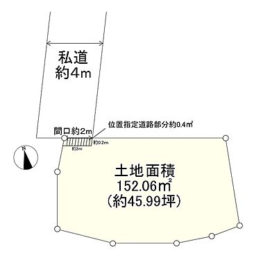 土地-足立区中央本町4丁目 区画図
