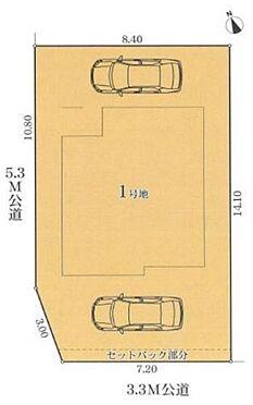新築一戸建て-名古屋市守山区鳥羽見1丁目 西側と南側に面した角地です。