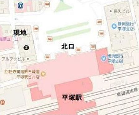 収益ビル-平塚市紅谷町 地図