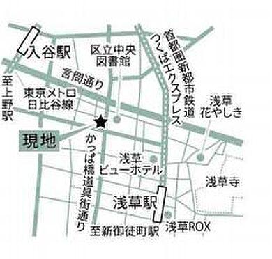 店舗(建物一部)-台東区松が谷4丁目 地図