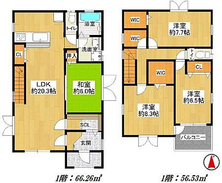 中古一戸建て-日進市岩崎町野田 全室6帖超え、4LDKのゆとりある室内です。