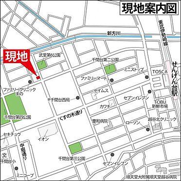 アパート-春日部市千間1丁目 案内図