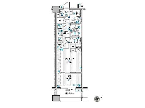 マンション(建物一部)-志木市本町5丁目 使いやすい1DKタイプです。室内は機能的でデザイン性のある造りになっております。
