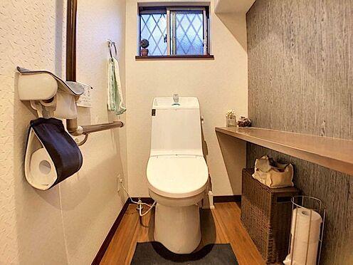 中古一戸建て-春日井市岩成台7丁目 安全を配慮し手摺つきで安心のトイレ!