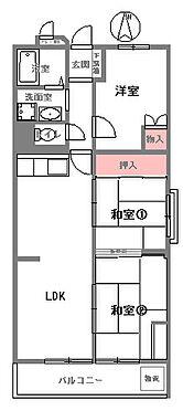 中古マンション-東大阪市岩田町6丁目 間取り