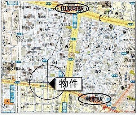 事務所(建物一部)-台東区寿1丁目 地図