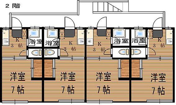 アパート-仙台市若林区二軒茶屋 2階間取り図