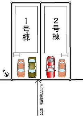 新築一戸建て-千葉市美浜区高洲1丁目 対象不動産は1号棟です。