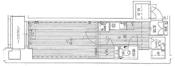 マンション(建物一部)-京都市上京区西船橋町 室内に洗濯機が置けます