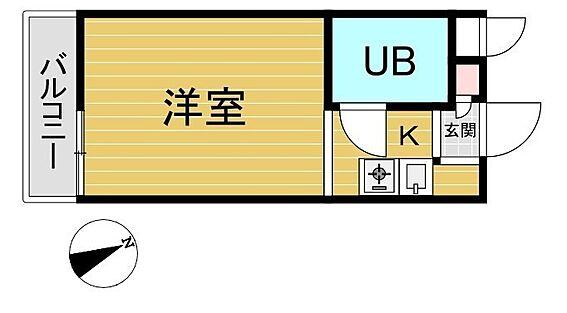マンション(建物一部)-葛飾区青戸6丁目 TOP青砥第四の207号室の間取り図です