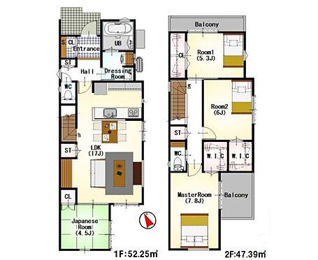 戸建賃貸-名古屋市緑区鳴海町字向田 わたし好みの住宅で快適な生活を。壁や床の色味が違うだけでお部屋の印象をガラリと変えることが出来ます。