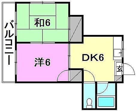 マンション(建物全部)-松山市雄郡2丁目 間取り
