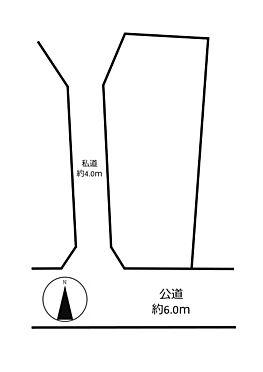 土地-世田谷区成城4丁目 区画図