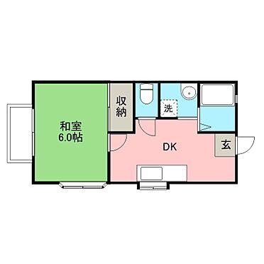 アパート-宇都宮市山本3丁目 1DKは和室が基本ベースですが洋室に変更されている部屋があります。