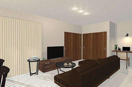 戸建賃貸-尾張旭市旭台2丁目 【リフォーム1100万円プラン】和室を洋室に変え、LDKを広くしたプランです。
