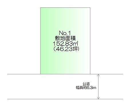 土地-仙台市太白区柳生2丁目 区画図
