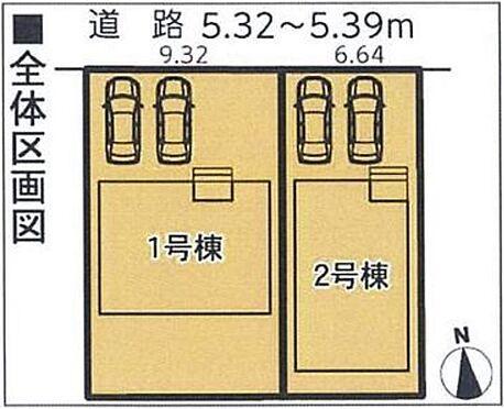 新築一戸建て-名古屋市南区三吉町1丁目 全体区画図