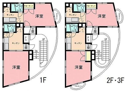 マンション(建物全部)-横浜市鶴見区東寺尾東台 間取り