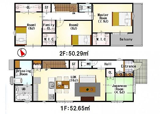 新築一戸建て-岡崎市柱町字南屋敷 間取りは生活のしやすさを重視。家族みんなが気持ちよく過ごすための構造と使いやすい間取りを実現。