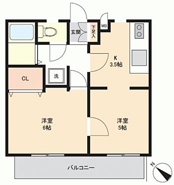 中古マンション-横浜市南区永田北2丁目 間取り